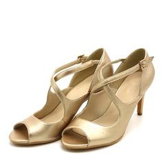 Kvinder PVC Stiletto Hæl sandaler Pumps Kigge Tå med Spænde sko