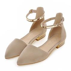 Kvinner Blonder Flat Hæl Lukket Tå Flate sko med Annet