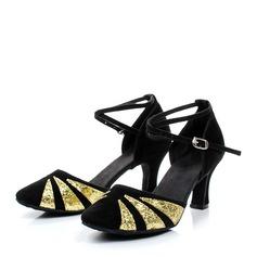 Vrouwen Sprankelende Glitter Suede Ballroom Dansschoenen