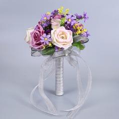 Yksinkertainen ja tyylikäs Vapaamuotoinen Kangas Morsiamen kukkakimppuihin -