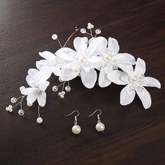Гламурный шелковые цветы ободки (Набор из 2)