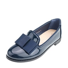 Girl's Closed Toe Loafers & Slip-Ons imitatieleer Flat Heel Flats met strik