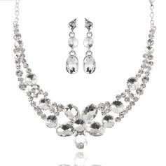 Charme Liga com Strass Senhoras Conjuntos de jóias