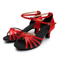 Femmes Satiné Sandales avec Ouvertes Chaussures de danse
