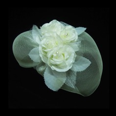 Damer' Gorgeous Netto garn Fascinators