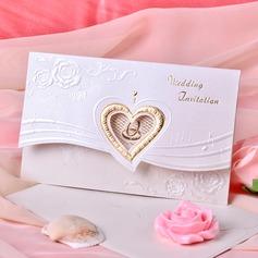 Estilo Coração Tri-Fold Invitation Cards (Conjunto de 50)