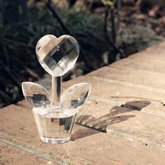 Floral Desenho de flor Cristal Presentes Criativos com Fitas