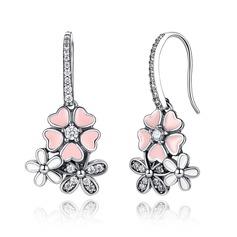 Unik silver Damer' Mode örhängen