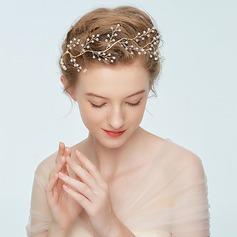 Damen Handgemacht Legierung Stirnbänder mit Strass/Venezianischen Perle (In Einem Stück Verkauft)