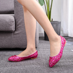Kids' Leatherette Flat Heel Closed Toe Flats With Rhinestone Crystal