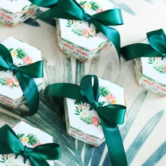 Creative/Lovely Card Paper Favor Boxes & Containers With Ribbons
