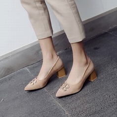 Women's PU Chunky Heel shoes