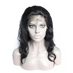 4A non remy Vague de corps Cheveux humains Perruques avant en dentelle 300g