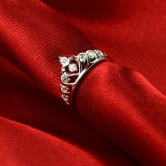 Gorgeous Forsølvet Ladies ' Fashion Ringe