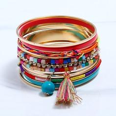 Mode Legering Strass med Tofsar Strass Damer' Mode Armband (Sats om 9)