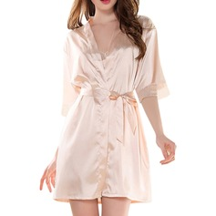 Satin Blonder Brud Brudepige Blank Robes (248150344)