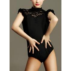 Mulheres Roupa de Dança Renda Nailon Dança Latina Roupa