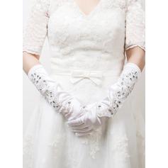 Satén elástico Guantes de novia
