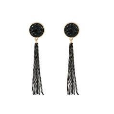 Lysande Strass koppar med Strass Kvinnor Mode örhängen