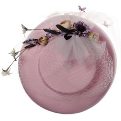 Senhoras Elegante Seda com Flor de seda De disquetes Chapéu