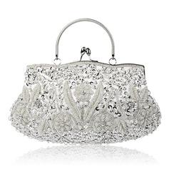 Perlebesat Top håndtag tasker/Brude Pung/Aftenposer
