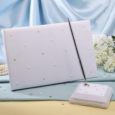 """""""Bienvenidos a nuestra boda"""" Diamantes de imitación Libro de visitas & sistema de la pluma"""
