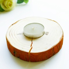 Classic Round Wooden Candle Holder (Sold in a single)