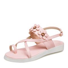 Donna Similpelle Senza tacco Sandalo Ballerine con Fiore scarpe