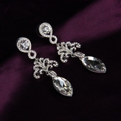 Shining Alloy/Rhinestones With Rhinestone Ladies' Earrings