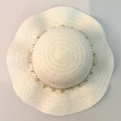 Niño de Precioso Ratán paja Disquete Sombrero/Sombrero de paja