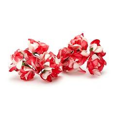 Colorido Rosa papel Flores artificiales (juego de 24)