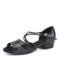Women's Leatherette Mesh Heels Latin Dance Shoes