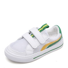 Unisex Closed Toe Mesh Flat Heel Sneakers & Athletic With Velcro Hollow-out
