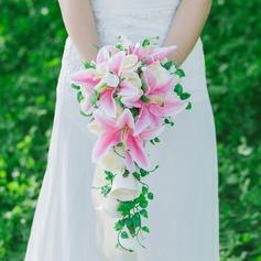 Jolie Cascade Soie artificielle Bouquets de mariée -