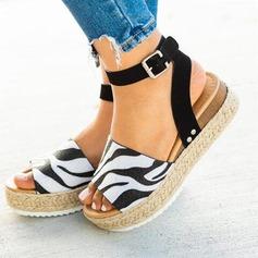 Kvinder PU Flad Hæl sandaler Fladsko Kigge Tå med Spænde sko