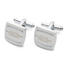 Personalized Stainless Steel Cufflinks  (118032749)