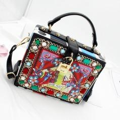 Elegant PU/Legierung Einkaufstaschen