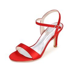Kvinnor Satäng Peep Toe Sandaler