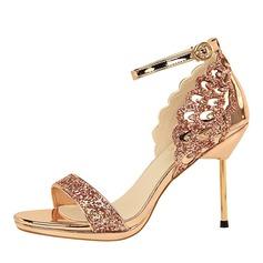 Women's Sparkling Glitter Spool Heel Pumps