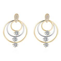 Shining Rhinestones Zircon Copper With Rhinestone Zircon Women's Fashion Earrings