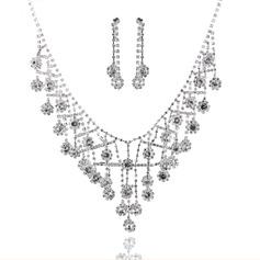 Exquisite Liga com Strass Senhoras Conjuntos de jóias