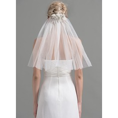 One-tier Cut Edge Shoulder Veils With Beading