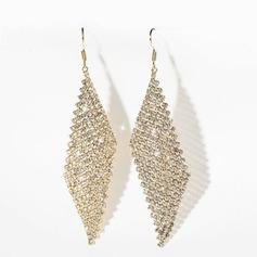 Dames Style Classique Plaqué or Cristal Boucles d'oreilles elle/Amis/Demoiselle d'honneur