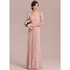A-Line/Princess Sweetheart Floor-Length Chiffon Prom Dress With Cascading Ruffles (018144959)
