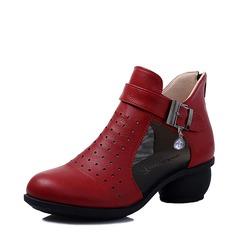 De mujer Cuero Tacones botas de danza con Hebilla Zapatos de danza