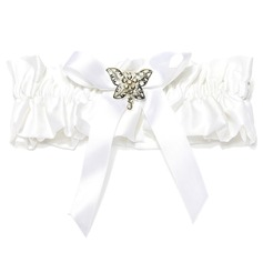 Attractive Satin With Bowknot Rhinestone Wedding Garters (104019294)