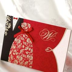 Bride & Groom stil Wrap & Pocket Invitation Cards (Sats om 50)