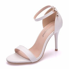 Women's Leatherette Stiletto Heel Peep Toe Platform Pumps Sandals