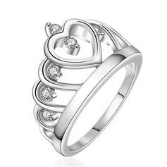 Lindo Cobre/Zircon/Prateado Senhoras Anéis