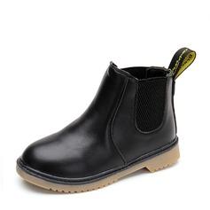Unisex Leatherette Flat Heel Closed Toe Boots